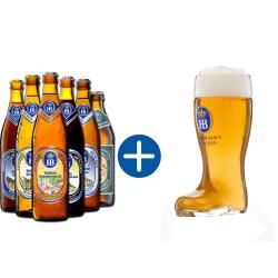 "Hofbräu Geschenkpaket ""Glasstiefel"""